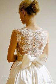 #wedding dress #lace back