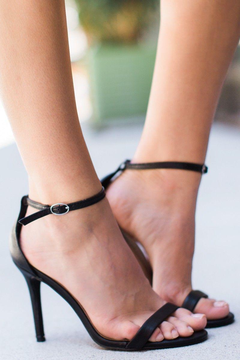 383de149111 At My Best Black Ankle Strap Heels at reddressboutique.com