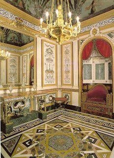 El interior de la Casita del Labrador, Aranjuez, España, edificado por Carlos III (estilo neoclásico)