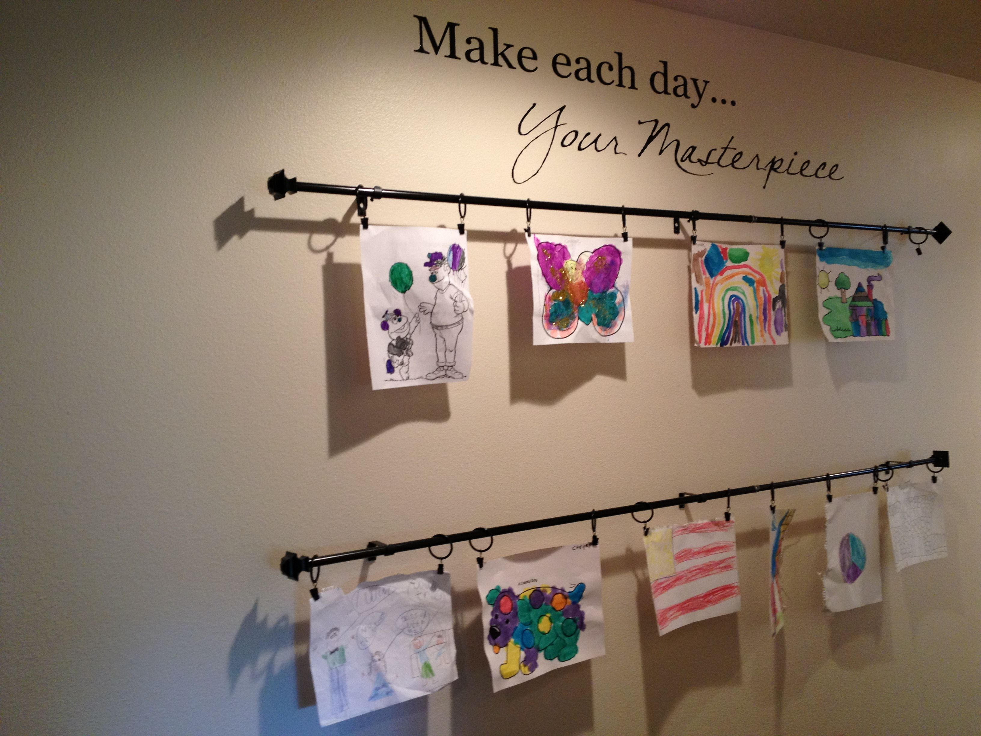 Color of art gallery walls - Kids Art Gallery Wall
