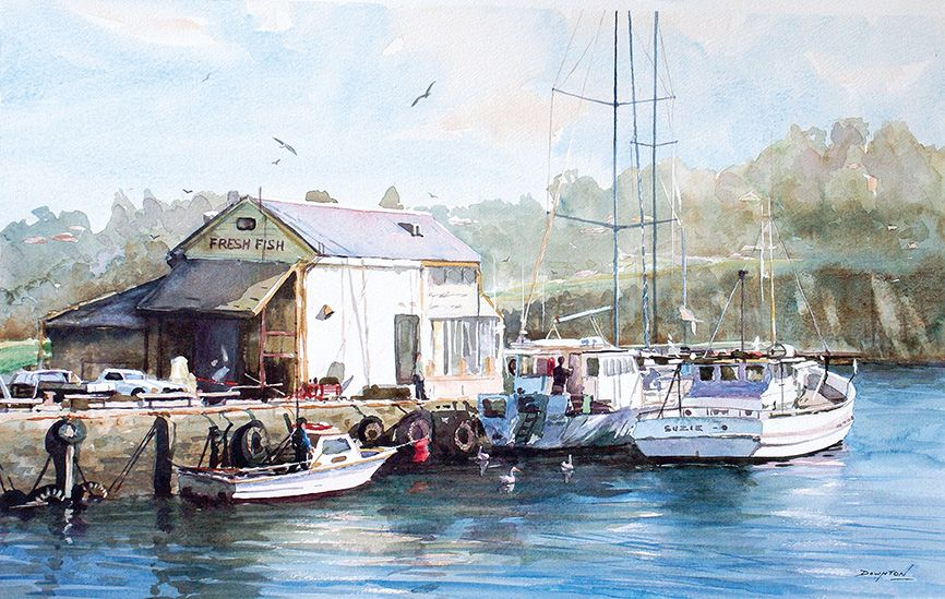 'At Home With The Pelicans' by John Downton www.artpublishing.com.au