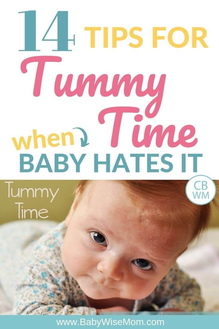 How To Do Tummy Time Even if Baby Hates It | Help baby ...