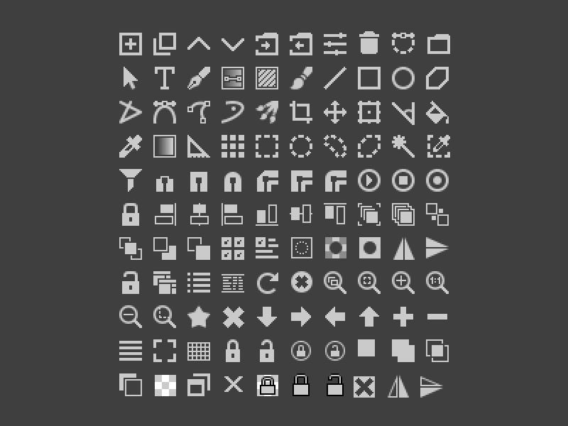 Krita 16x16 Icons 16x16 Icons Krita Icon