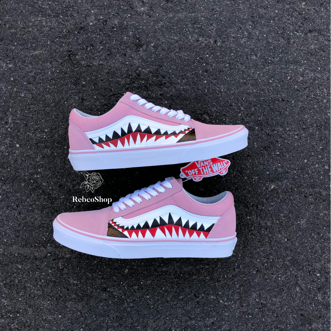 Get your custom Bape X Vans shark Tooth now! Checkout