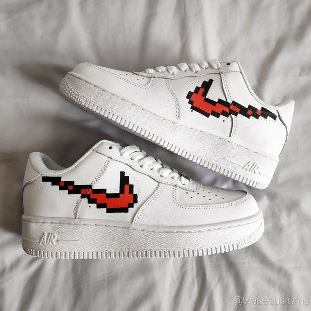 Nike 'Pixel' Air Force 1's Custom