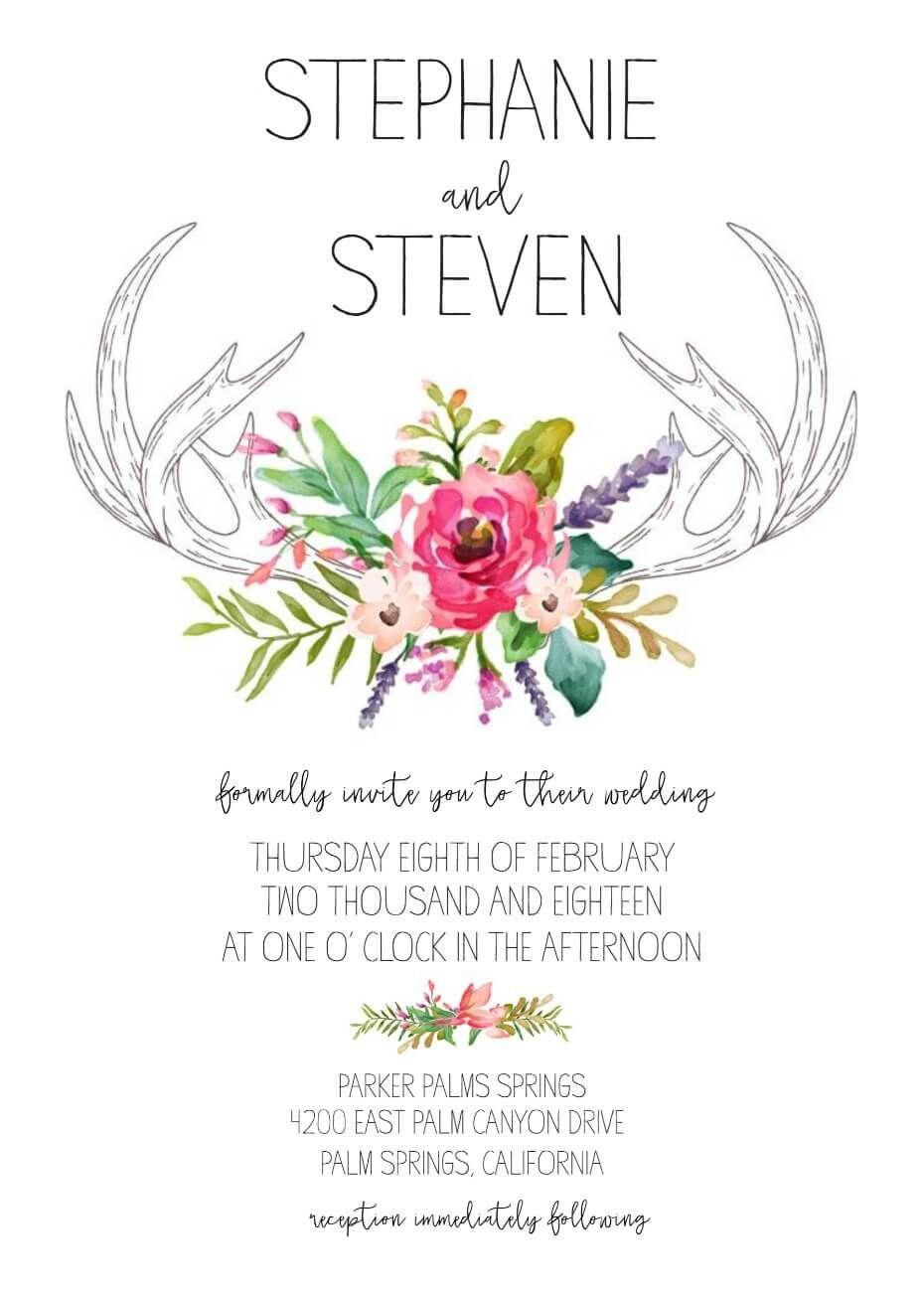 Wedding Invitation Generator Free Printable Wedding Invitations Wedding Invitations Boho Free Wedding Invitations