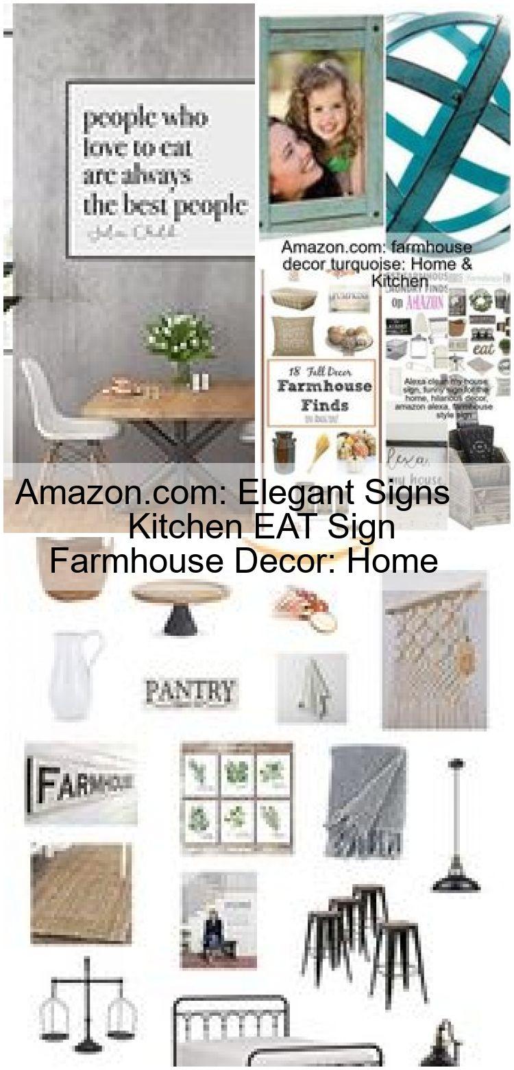 Amazon Com Elegant Signs Kitchen Eat Sign Farmhouse Decor Home Kitchen Amazoncom Dec Welcome To Blog In 2020 Kitchen Signs Farmhouse Decor Eat Sign