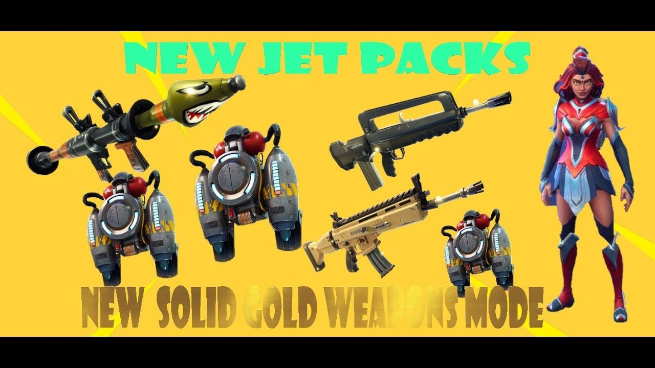 Xbox One Fortnite Battle Royale Jet Packs And Solid Gold Weapons