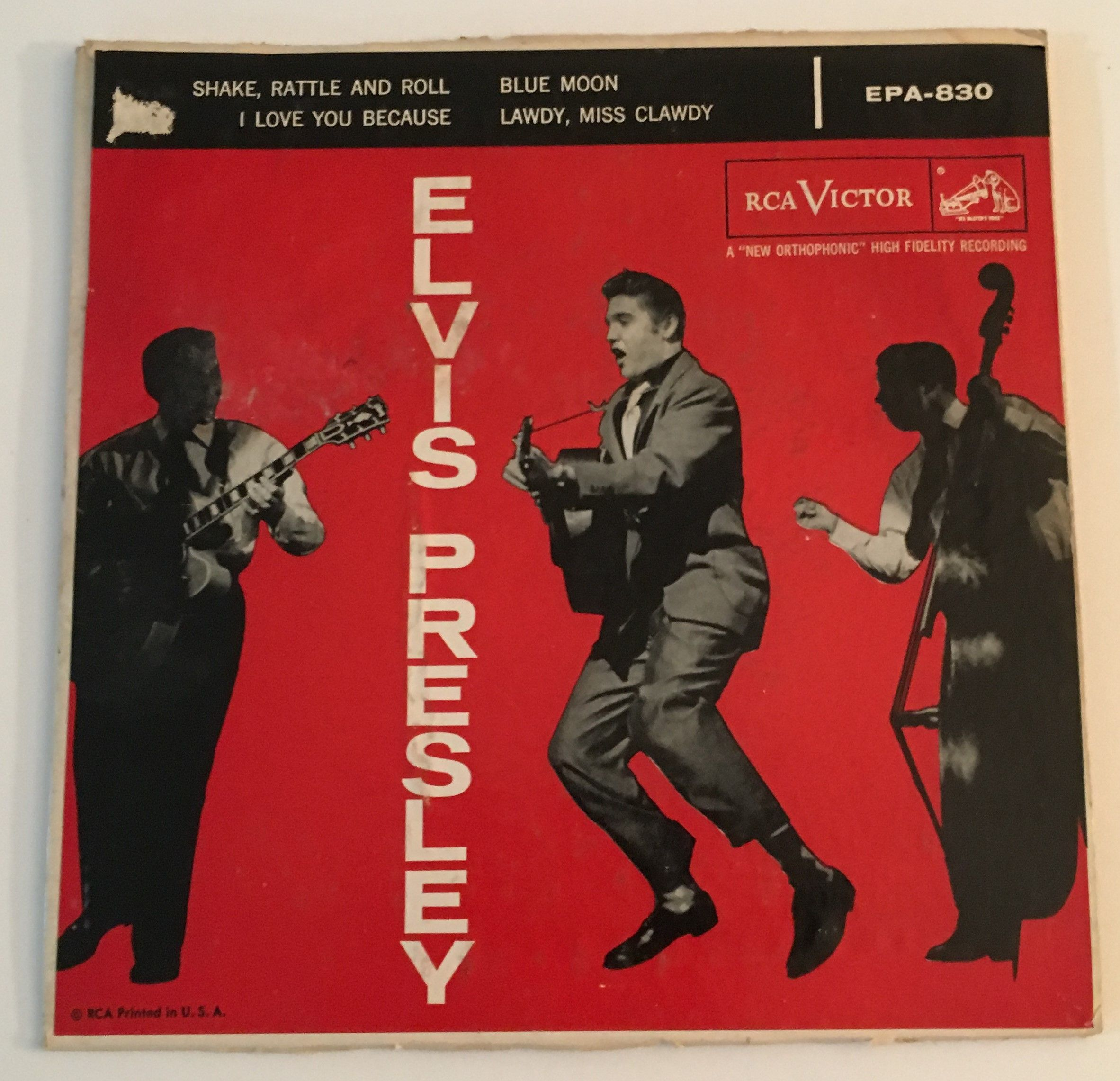 ef8fb6d1517b Elvis Presley 45 EP Shake rattle and roll red label Canadian 7