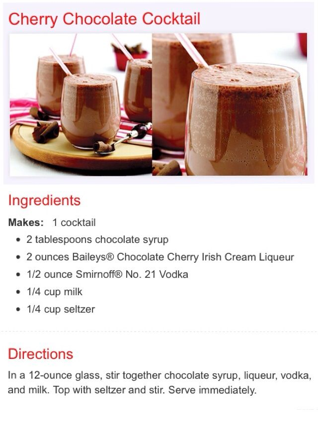 CHERRY CHOCOLATE COCKTAIL