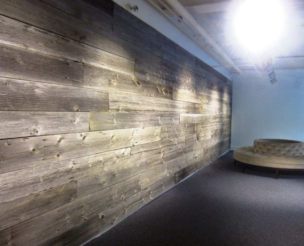 Commercial Office Space Feature Wall With Boards Hand