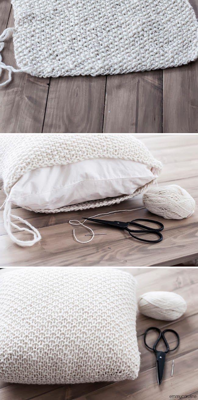 knitting home decor   knitting   Pinterest   Knit pillow, Knit ...