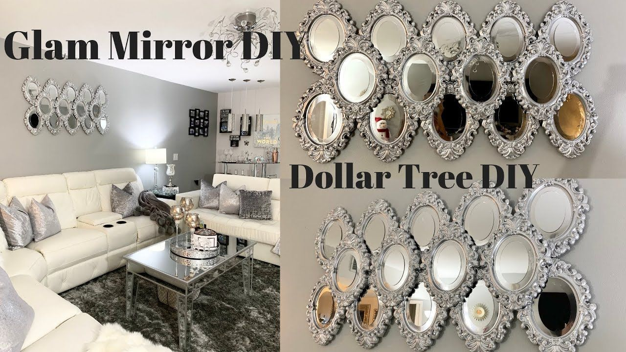 Dollar Tree Diy Mirror Wall Art Best Inexpensive Glam Diy Youtube Diy Home Decor Projects Diy Mirror Dollar Tree Mirrors
