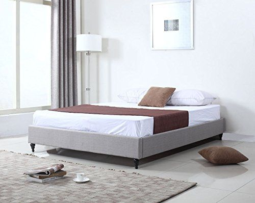 Home Life Cloth Silver Linen Chinese Non Headboard Platform Bed with Slats, Full, Grey *** Be sure to check out this awesome product.