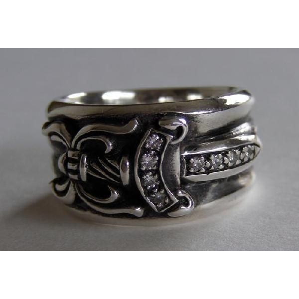 1d852368954 chrome hearts diamond dagger ring. Free shipping and guaranteed  authenticity on…