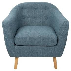 Rockwell Mid Century Modern Chair With Noise Fabric