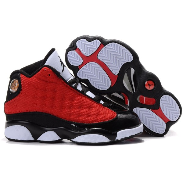 f3b011fcbde Red Head My Black Wetness As White Touches. Kid Air Jordans 13 ❤ liked on  Polyvore