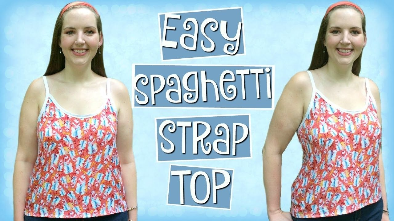 Diy Easy Spaghetti Strap Tank Top Sewing Pinterest Bra Cup Bustier Tangtop Singlet Busa Clothes For Beginners