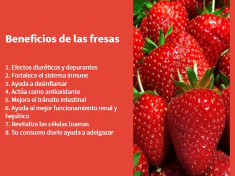 Comer fresa ayuda a bajar de peso