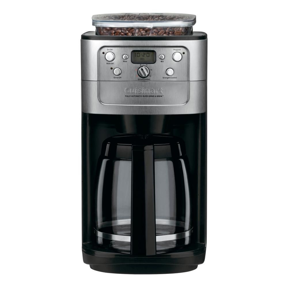 Cuisinart Grind and Brew 12Cup Black Chrome Drip Coffee