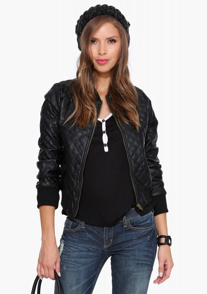 Quilted Leather Bomber  http://www.necessaryclothing.com/quilted-leather-bomber-black-l.html?___store=default#