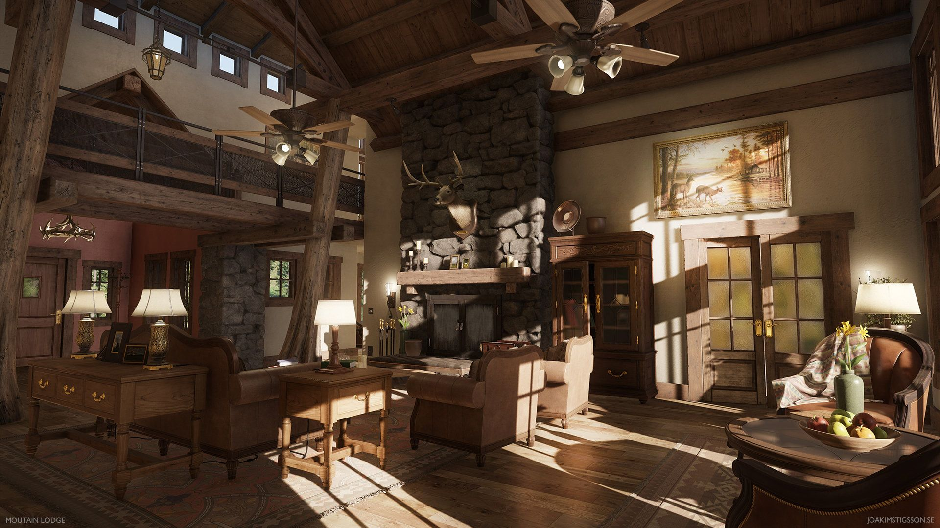 ArtStation - Mountain Lodge, Joakim Stigsson