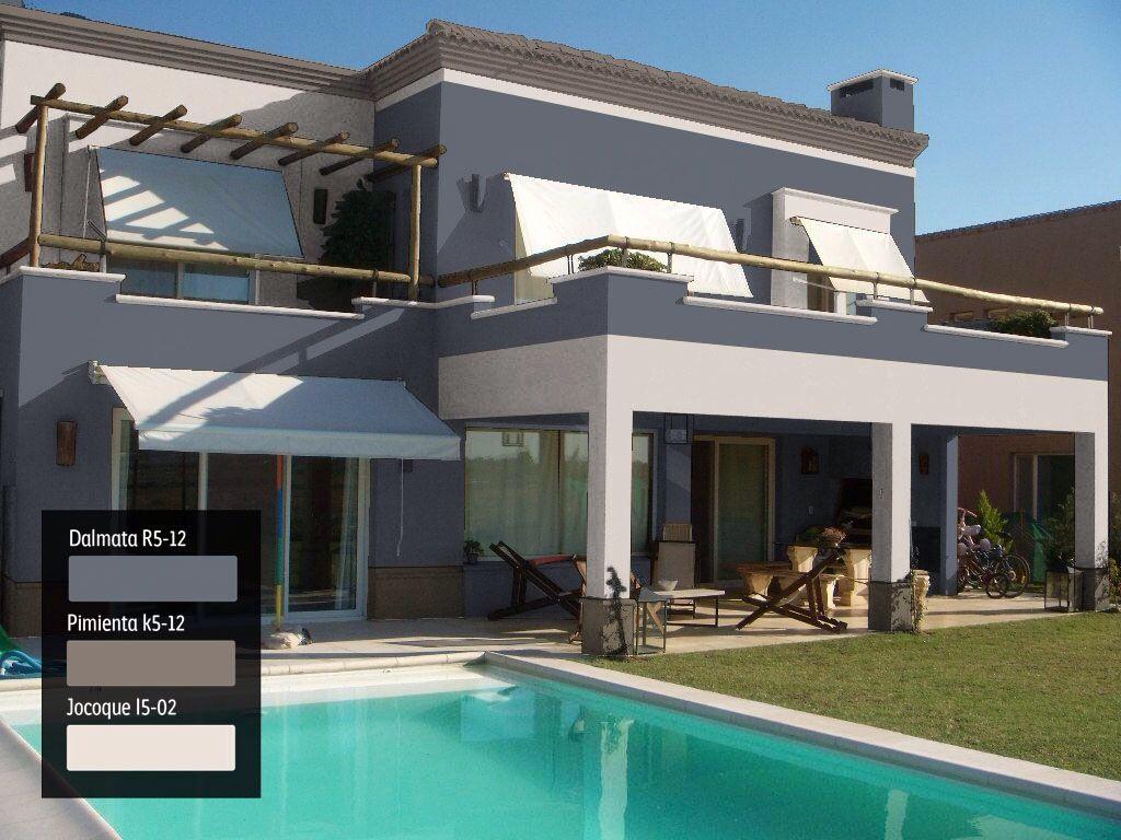 Una idea diferente para tu fachada comex exteriores - Fachadas de casas pintadas ...