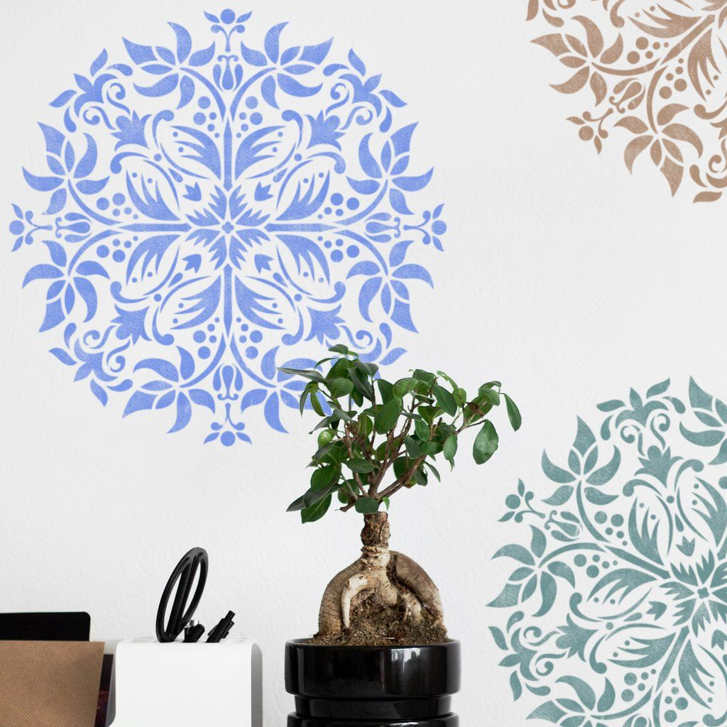 Mandala wall stencil furniture stencil wall painting stencils mandala stencil floor decor stencil wall painting stencils decorative medallion stencil amipublicfo Images