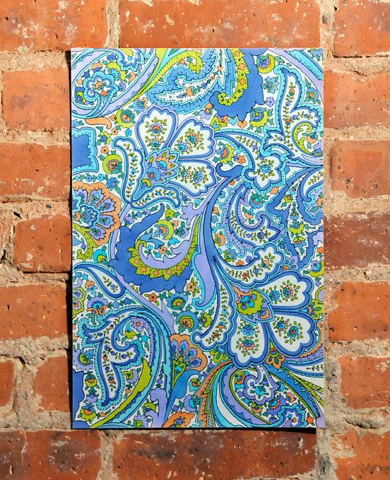 Paisley Painting Hand Drawing Original Art Painted Home Decor