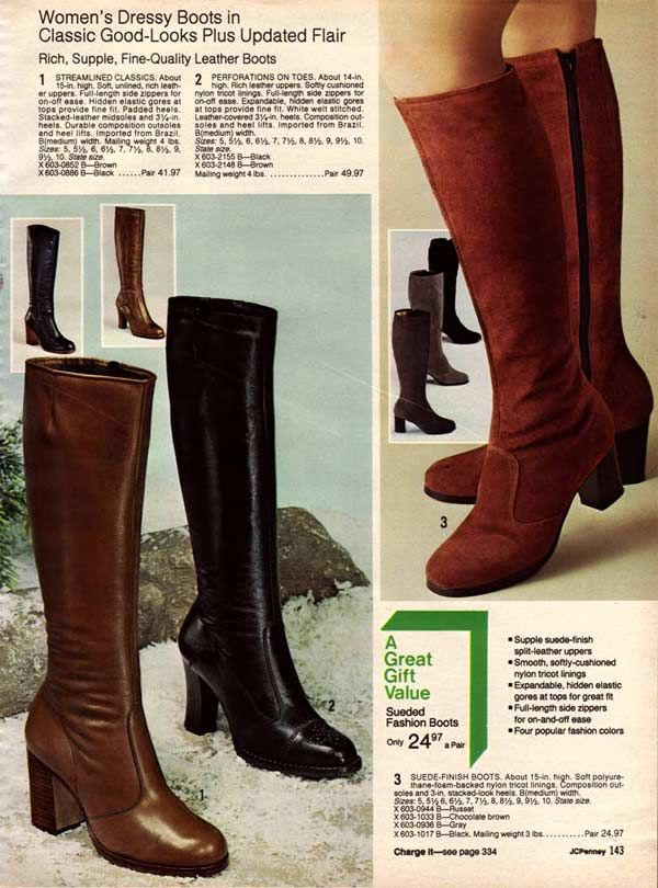 9a21f592831 1970s Boots: Crinkle, Platform, Granny, Stretch Boots | I'm Old ...