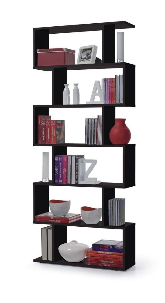 Captivating Modern Bookcase Display Shelves Book Shelf Wall Unit Office Home Storage  Black