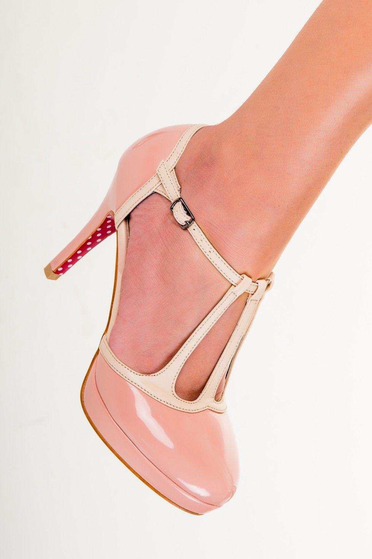 YE Damen Ankle Strap Rockabilly Pumps Chunky Heels Plateau mit Riemchen und Schleife Elegant Suuml;szlig; Schuhe