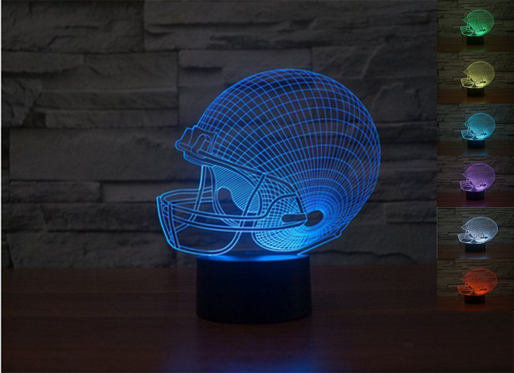 Lionking Usa New Year Sale Rugby Hat 3d Optical Illusion Multi Colored Change Touch Botton Table Light 3d Acrylic H Unique Night Lights Night Light Led Color
