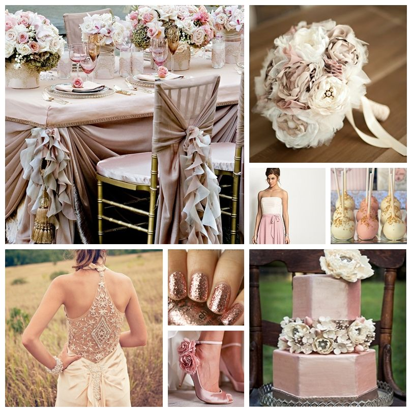 Pink And Gold Wedding Decorations: Champagne And Dusty Rose Wedding Inspiration Board