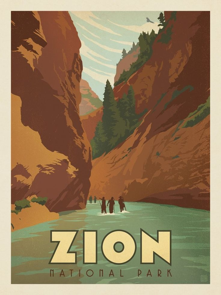 Anderson design group 60 american national parks zion