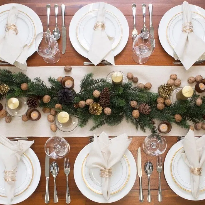 120 Hottest Christmas Table Decorating Ideas For You 3 My Easy Cookings Me Winter Table Decorations Christmas Dinner Table Xmas Table Decorations