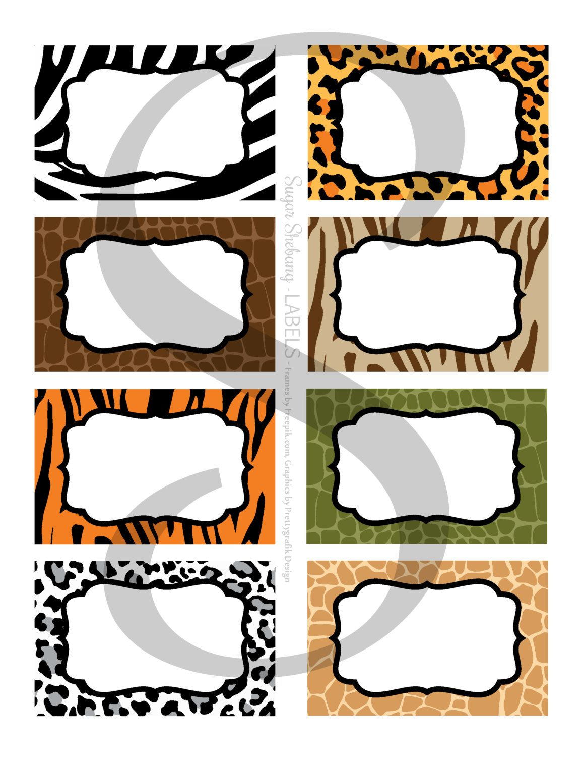 Jungle Party Labels