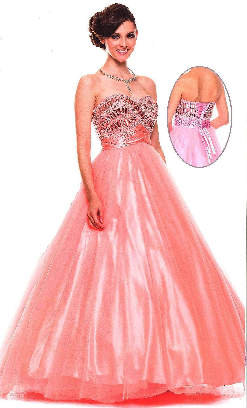 Quinceanera dresses ball gowns ucbrueucbruelong satin and tulle gown