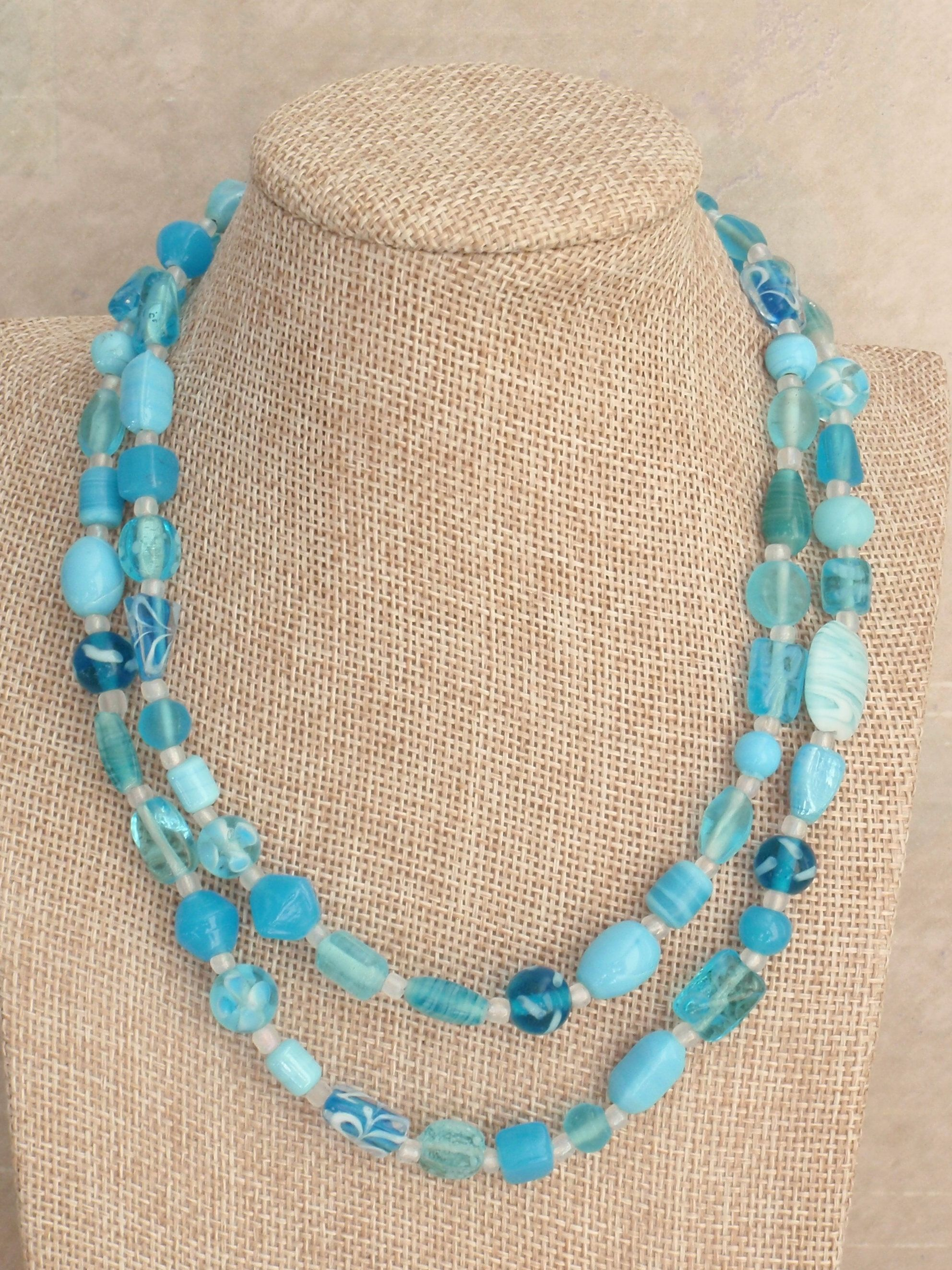 beads venetian bead glass necklace jewelry art s treasures tag deco gretel