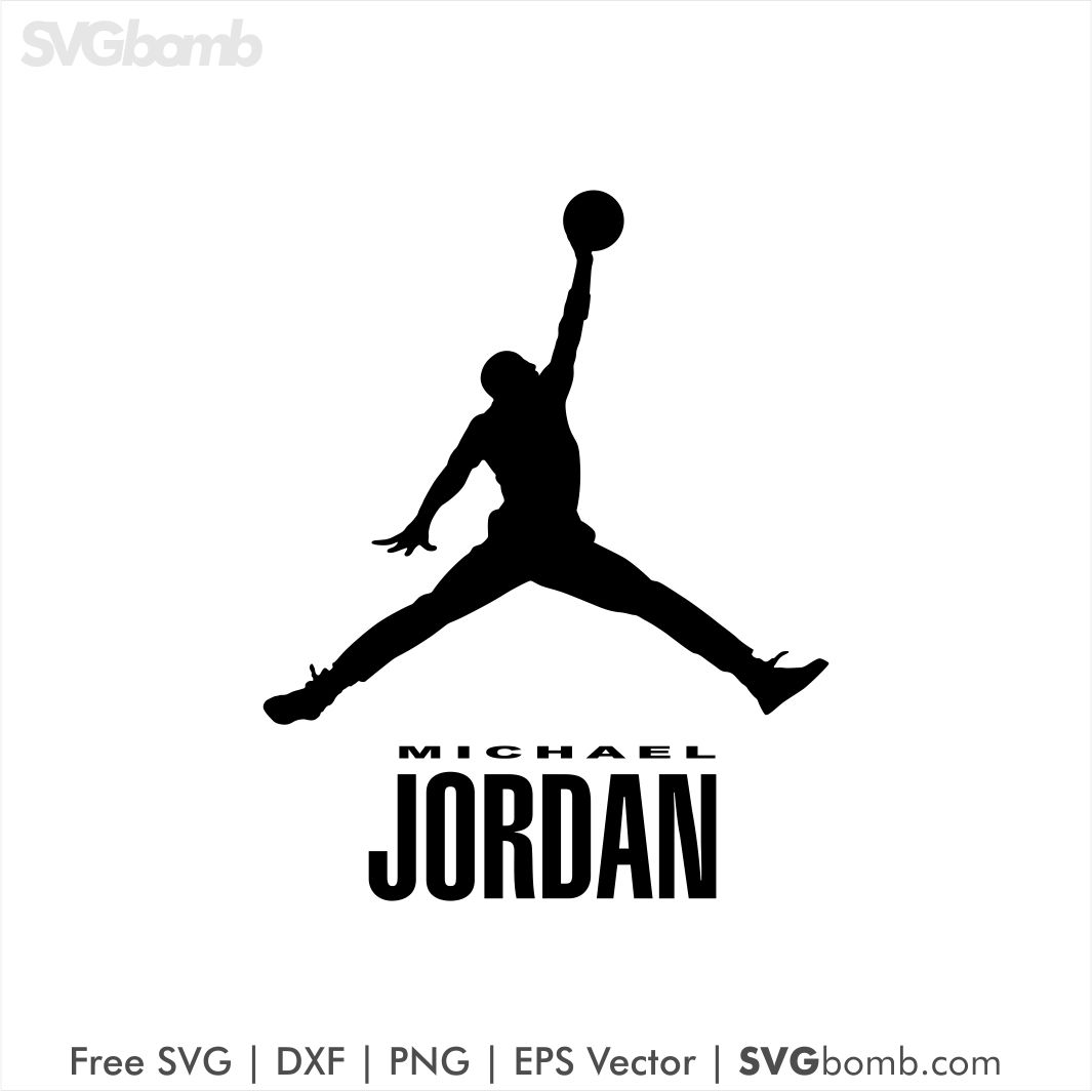 reputable site c19ee 4e9e2 Michael Jordan Logo Vector SVG DXF