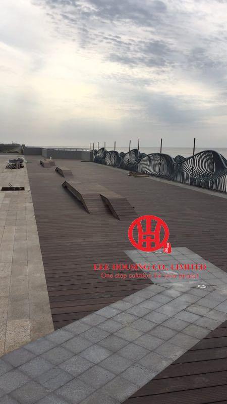Facile à installer carbonisé bambou terrasse en plein air Portes