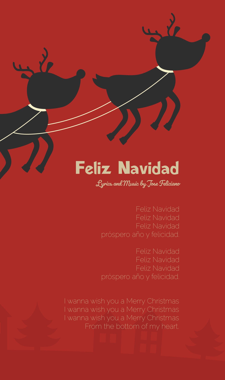 Feliz Navidad Lyrics By Jose Feliciano Feliz Navidad Jose Feliciano Piano Sheet Music