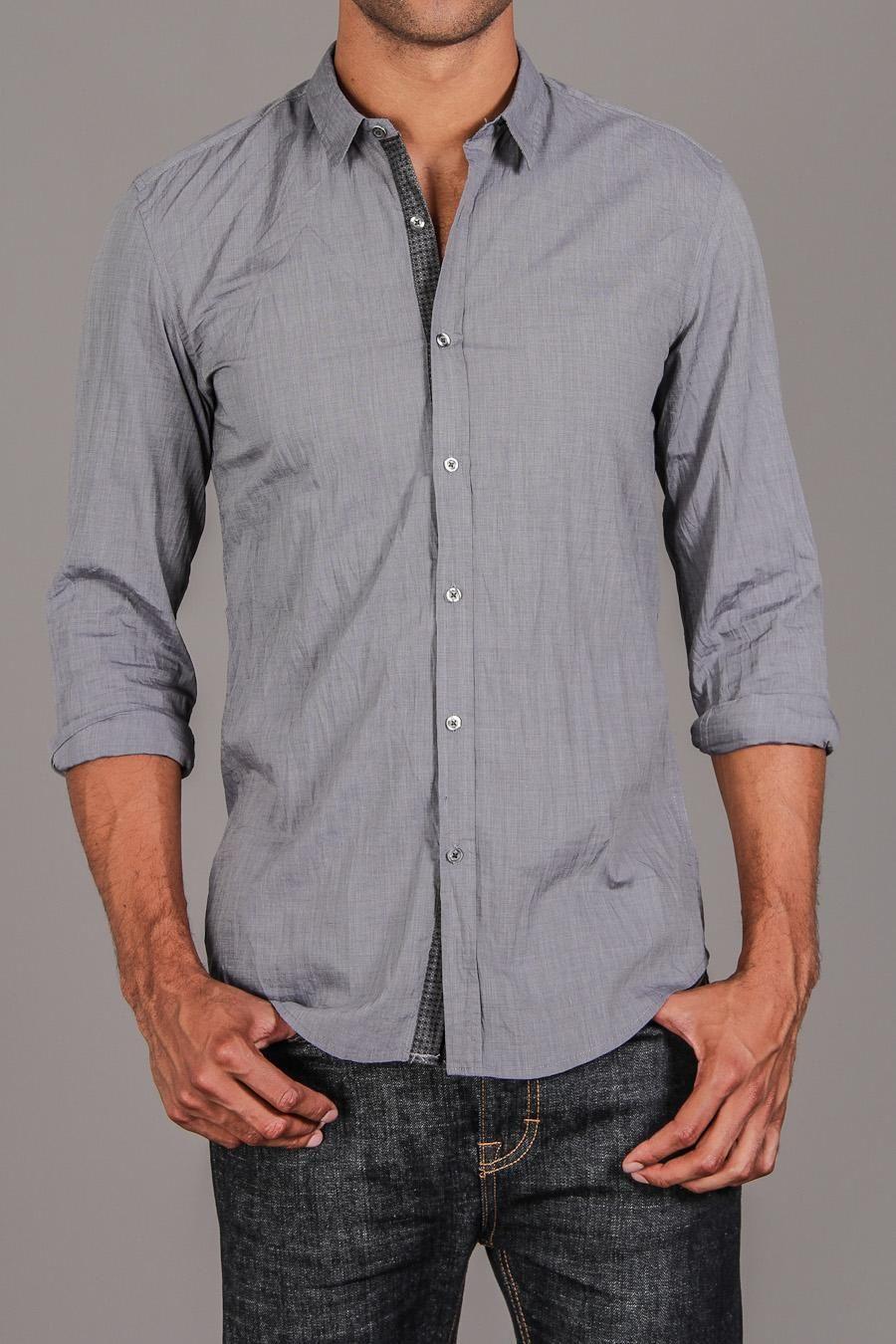 Antony Morato Chambray Contrast Placket Shirt