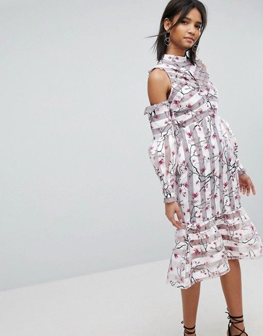 0da94c65b96b2 Elliatt Stripe & Floral Dress   ASOS