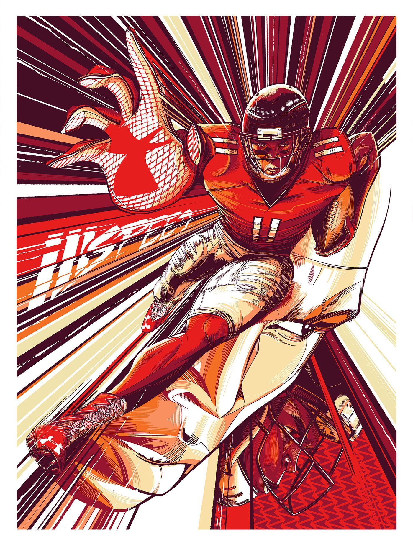Under Armour Julio Jones On Behance Under Armour Wallpaper Julio Jones Atlanta Falcons Art