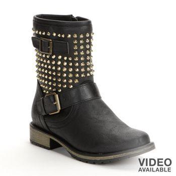 1b0c454f481 Candie's Studded Midcalf Boots - Women #Kohls | Shoe Envy | Boots ...