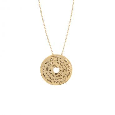 yellow grande aimee jewelry products gold chloe necklace hope cate pendant plated