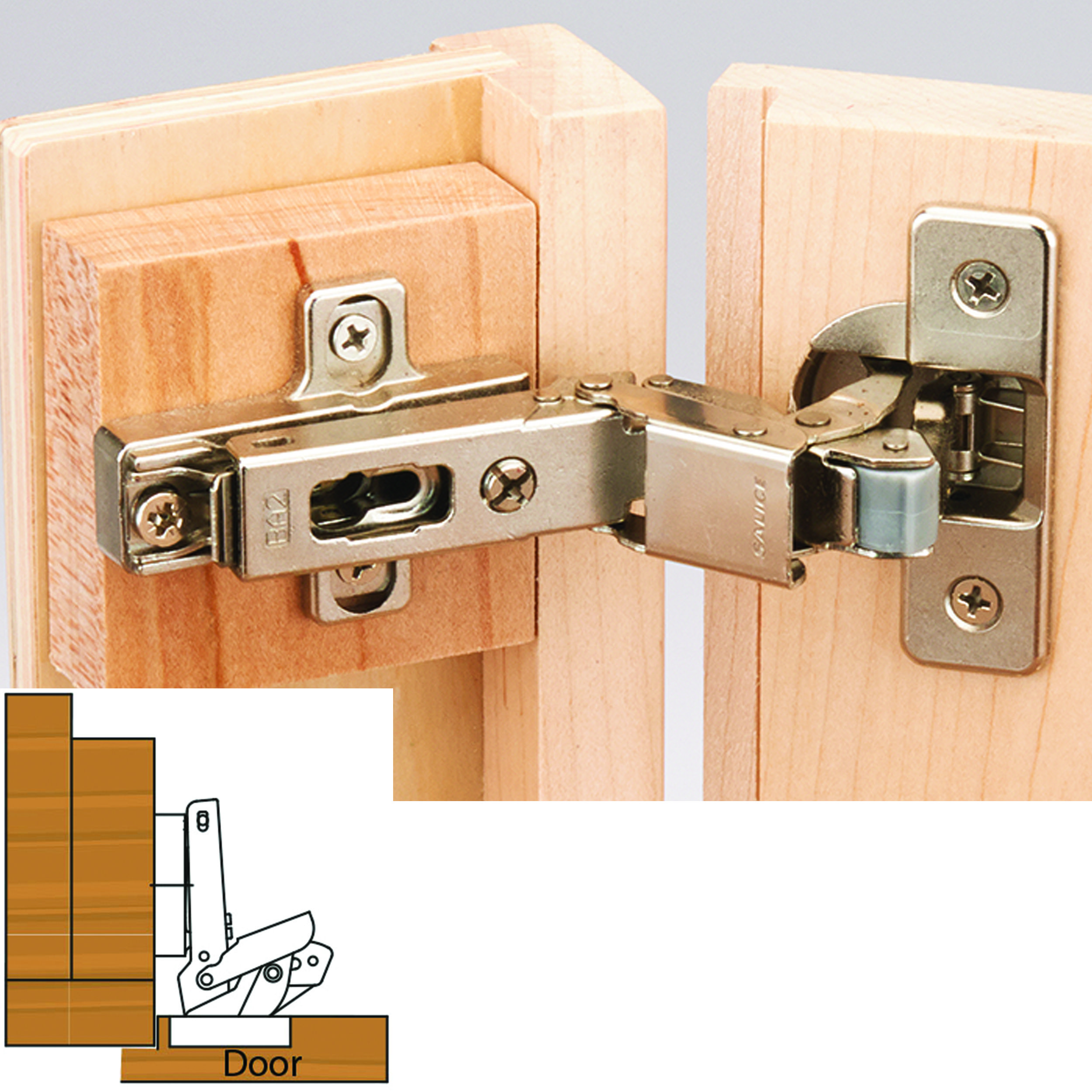 Salice 110 Degree Self Close 3 8 Lipped Face Frame Hinge Nickel Finish Pair In 2020 Concealed Hinges Hidden Hinges Nickel Finish