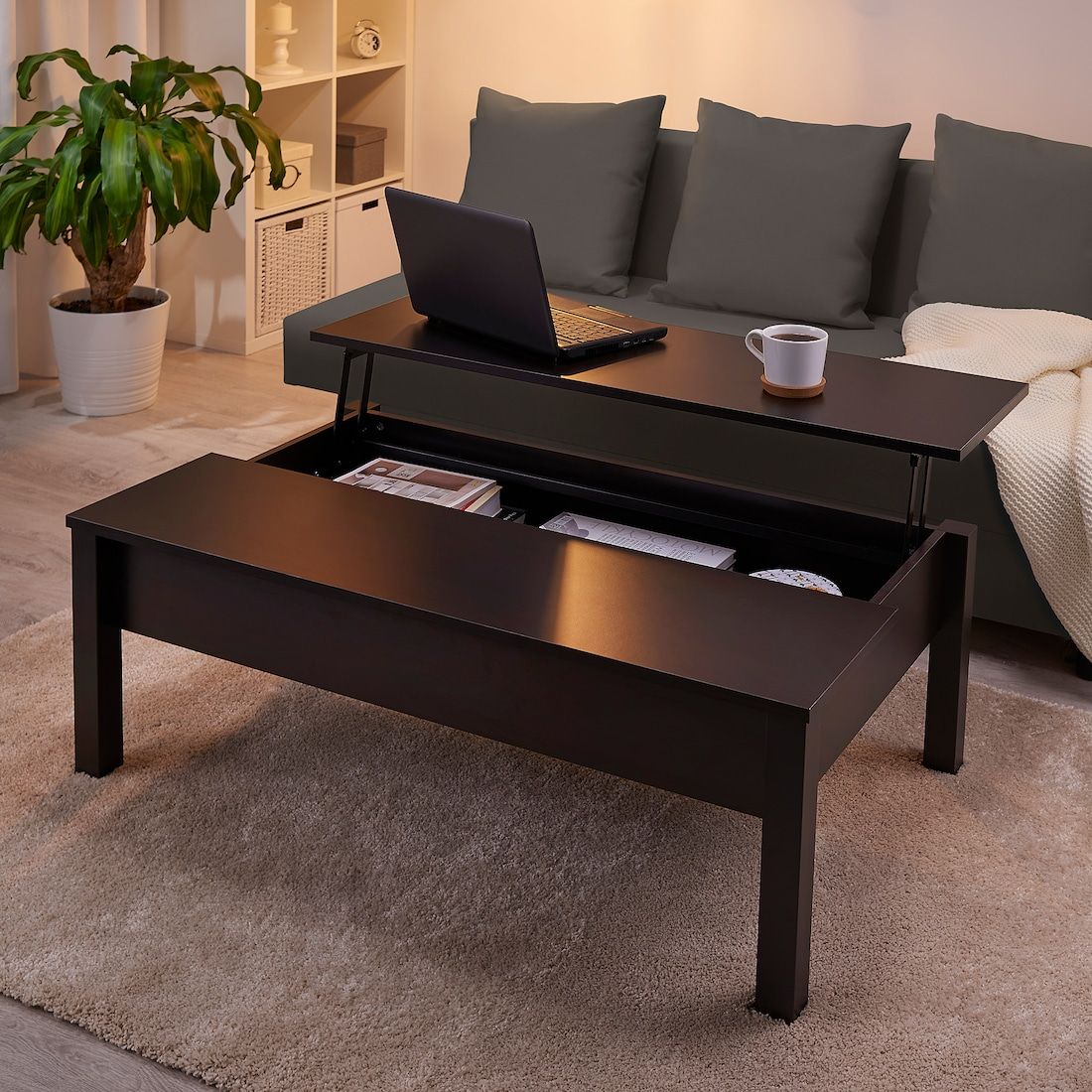 Trulstorp Coffee Table Black Brown 45 1 4x27 1 2 Ikea Coffee Table Living Room Furniture Layout Brown Coffee Table [ 1100 x 1100 Pixel ]