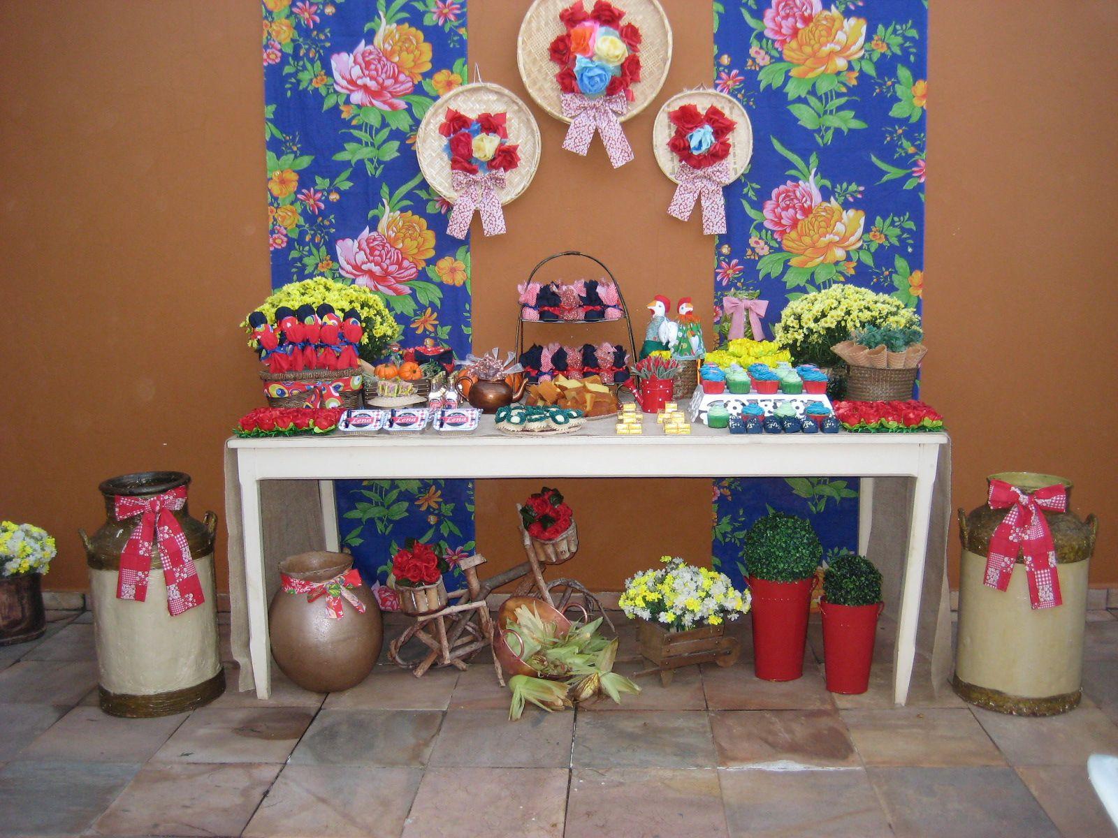Mesa Decorada Decoracao De Festa Junina